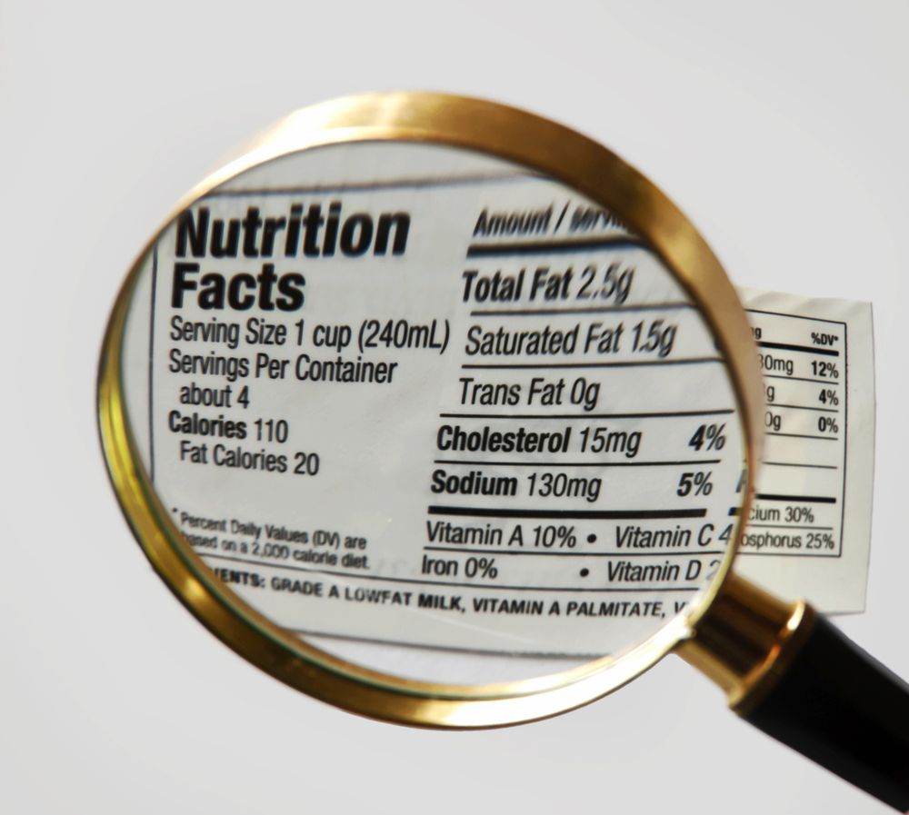 Nutrition Label Under a Magnifying Glass