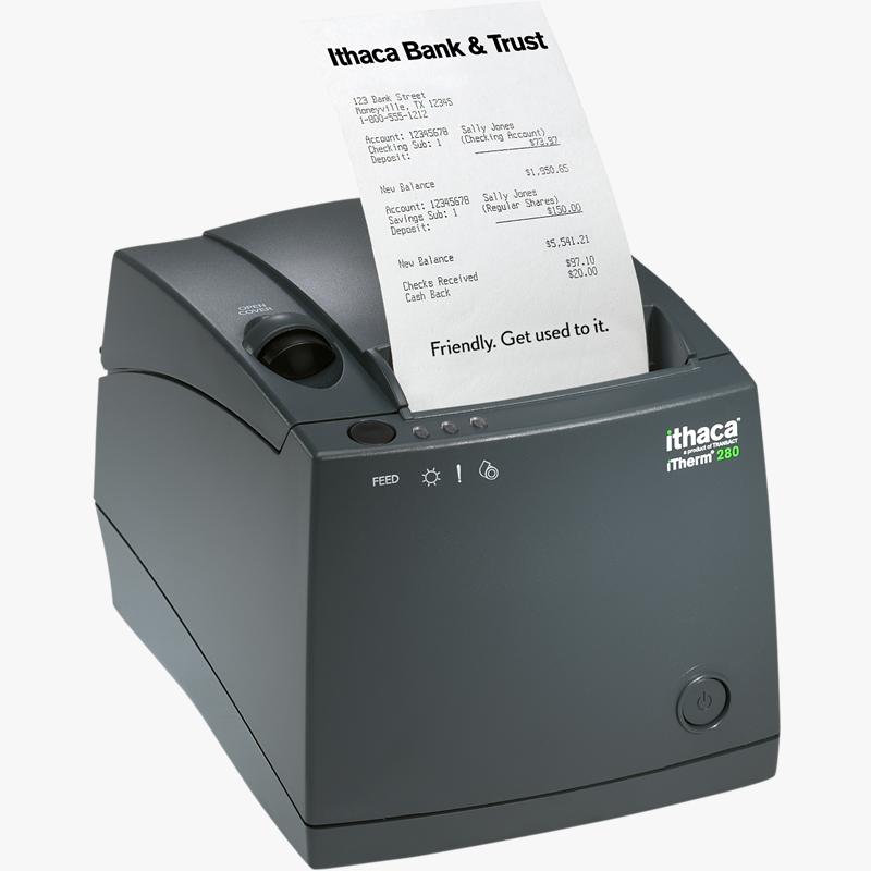 Ithaca 280 thermal receipt printer | transact tech.